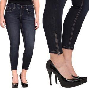 Torrid Ankle Zip Skinny Jeans